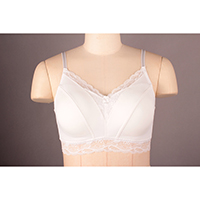 Padded Bra with Lace Trim, with Back Closure