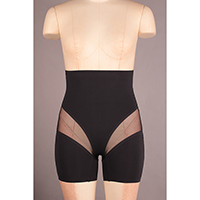 Bonded Hi Waist Shaping Long Leg with Mesh Details