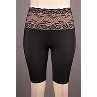 Control Waist Band Long Leg with Lace Details