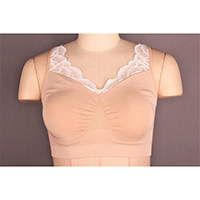 Seamless Modal Blend Bra with Lace Details and Removable Padding