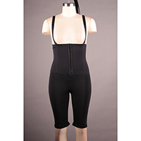 Seamless Shaping Long Leg with Front Closure and Strap Attached