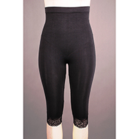 Hi Waist Seamless Capri with Tummy Control and Lace Details